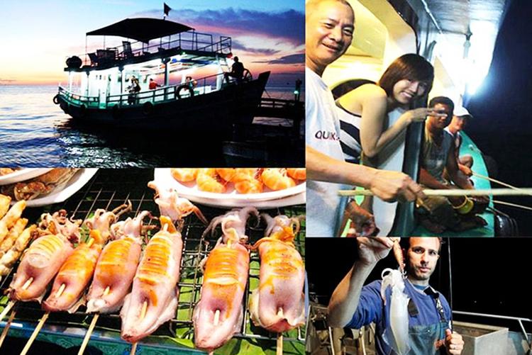 Tour Câu Mực Đêm Phú Quốc, Ăn Tối, Đón/Tiễn, Không Phụ Thu Lễ/Tết