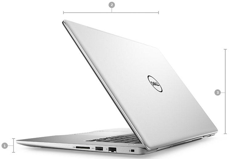 Laptop Dell Inspiron 7570 782P82 Core i7-8550U/Win10 (15.6 inch) - Silver - Hàng Chính Hãng