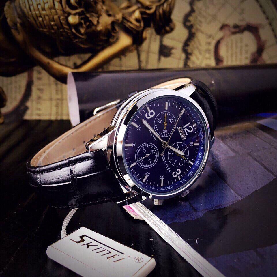 Đồng hồ Nam dây da SKMEI 9070 - DHA008