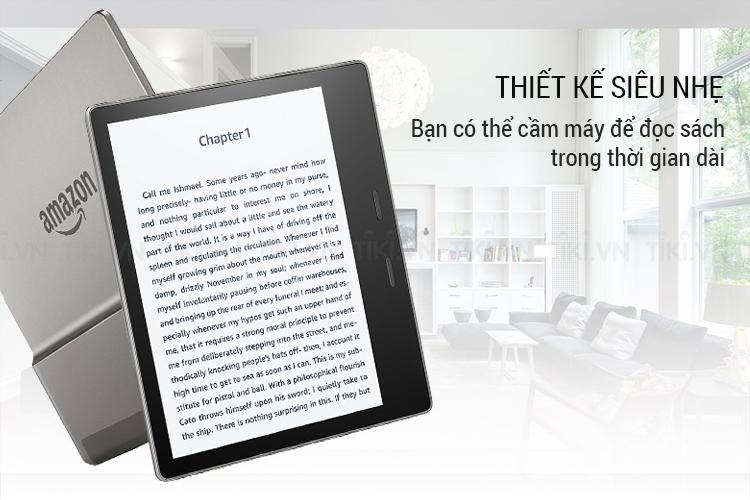 Máy Đọc Sách Kindle Oasis 2018 (9th) - Xám Kim Loại