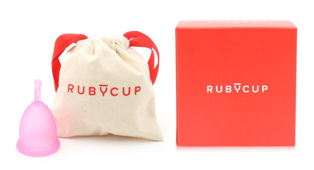 Cốc Nguyệt San Ruby Cup Màu Hồng