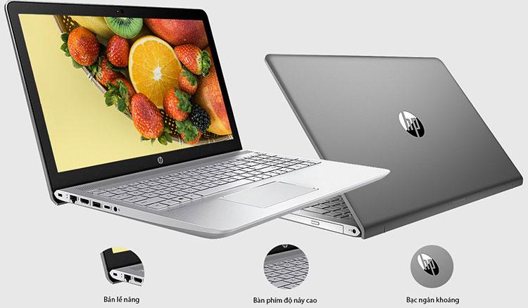 Laptop HP Pavilion 15-cc116TU 3PN25PA Core i5-8250U/Win 10 (15.6 inch) - Grey - Hàng Chính Hãng