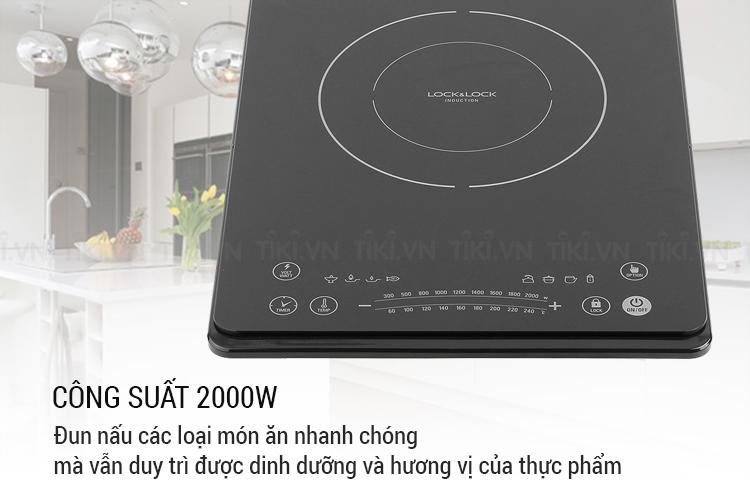 Bếp Điện Từ Ultra-Slim Lock&Lock EJI131BLK (2000W) - Đen