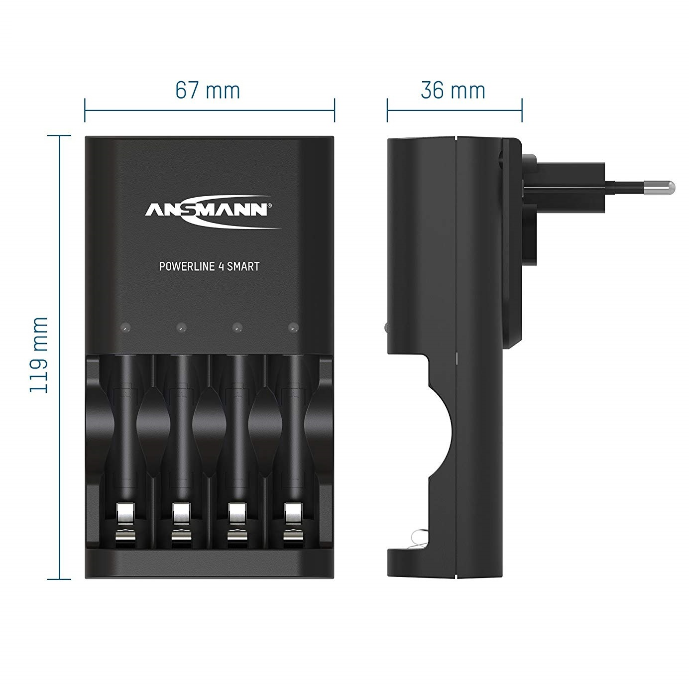 Bộ sạc Pin ANSMANN POWERLINE 4 Smart