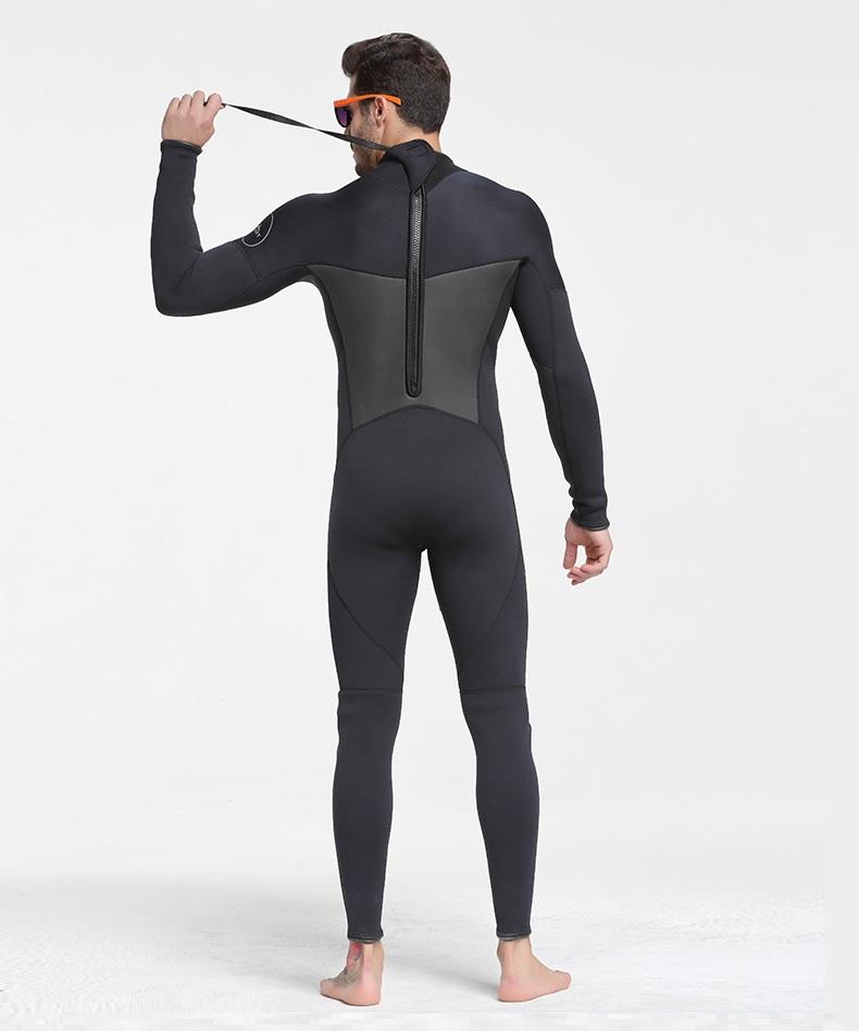 Quần áo lặn biển 3mm NAM - BLACK 1070 giữ ấm, bộ đồ lặn thoáng khí, chống thầm nước cao cấp - POKI