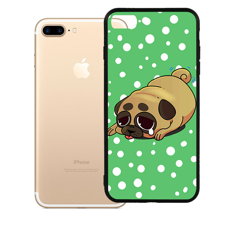 Ốp lưng viền TPU cao cấp cho Iphone 7 Plus - Dog Cry 02
