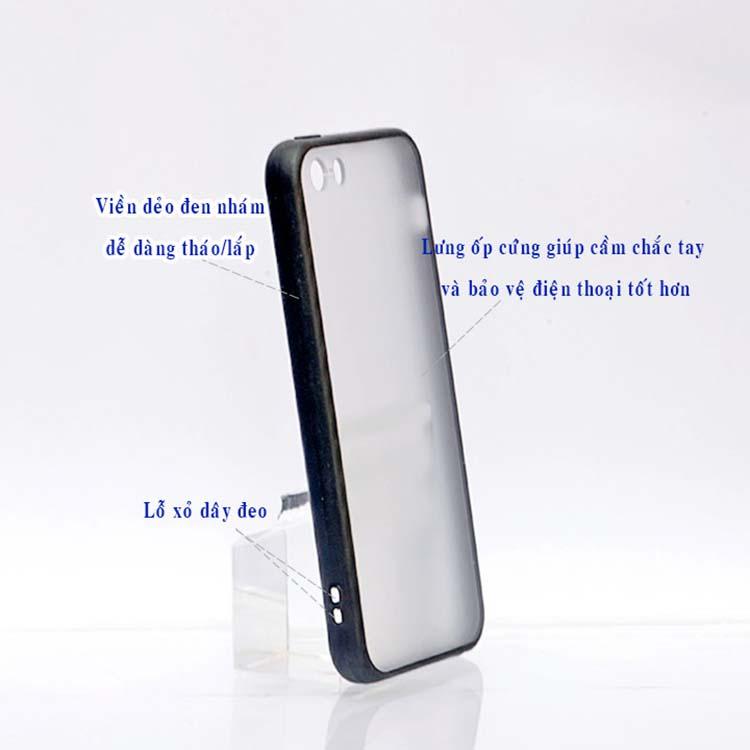 Ốp Lưng Viền TPU Cao Cấp Dành Cho iPhone 5/5s - Hoa Tulip 01