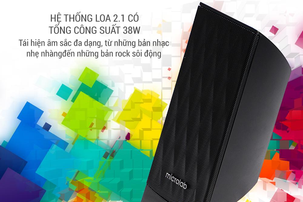 Loa Vi Tính Microlab M-300 2.1 (38W) - Hàng Chính Hãng