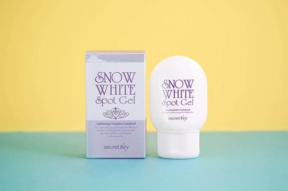 Gel trị thâm da và dưỡng trắng cơ thể Secret Key Snow White Spot Gel 65g