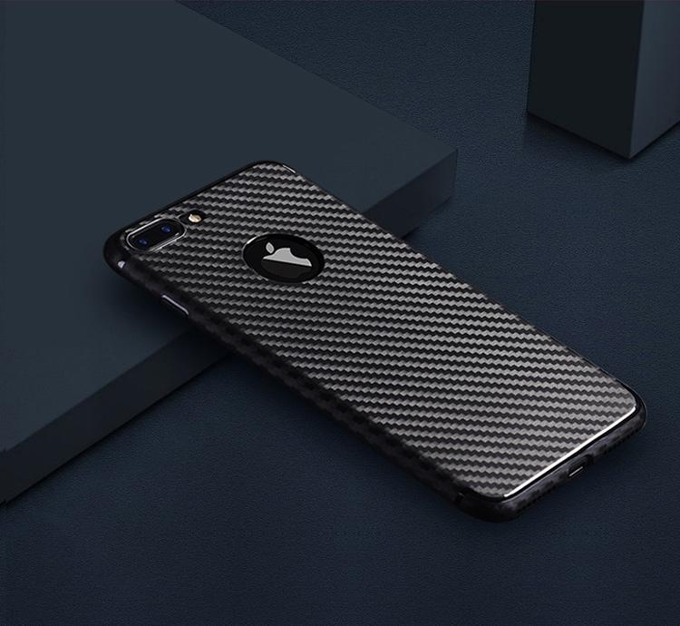 Ốp Silicone BIAZE JK85 Cho Iphone 6/6S,Chất Liệu Sợi Carbon, Bảo Vệ Toàn Diện Cho Máy - Đỏ