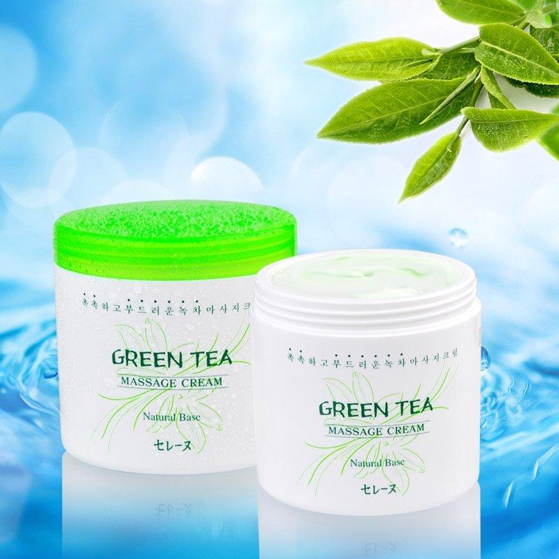 Kem Massage Trà Xanh MIRA Green Tea Massage Cream Hàn Quốc A523 (450ml)