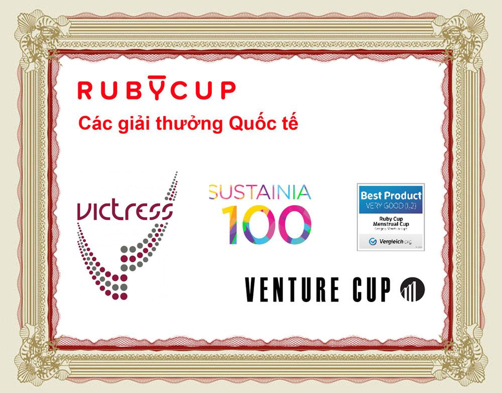 Cốc Nguyệt San Ruby Cup Màu Đỏ