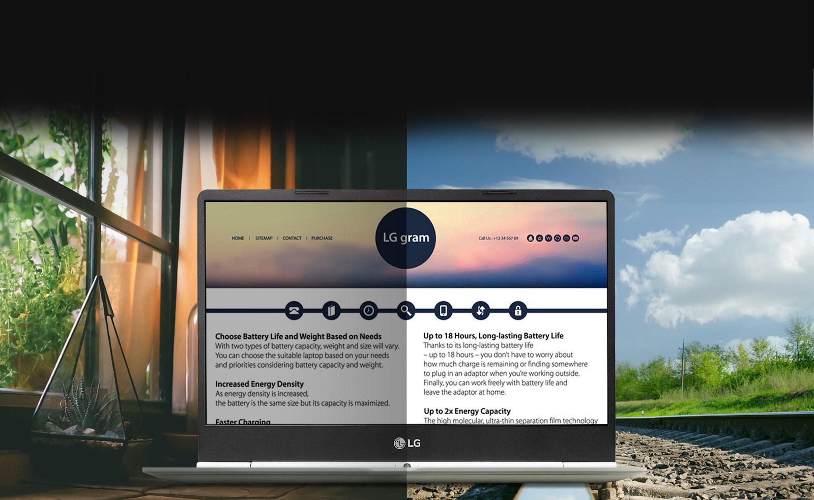 Laptop LG Gram 2018 13ZD980-G AX52A5 Core i5-8250U / Free Dos (13.3 inch) – Hàng Chính Hãng - White