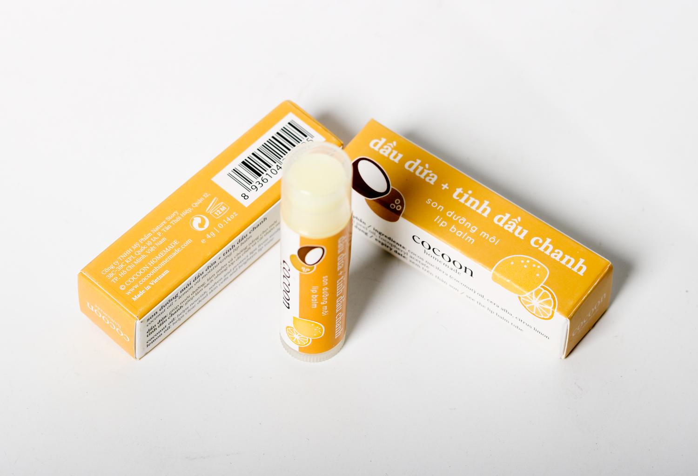 Combo 2 Son dưỡng môi lip balm Cocoon trị thâm môi, khô nứt môi