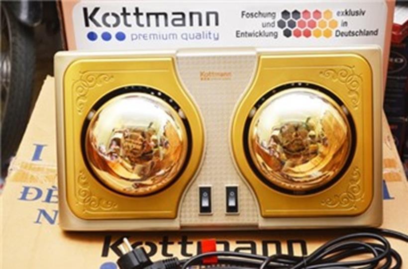 Đèn sưởi Hans Kottmann 2 bóng vàng K2B-H