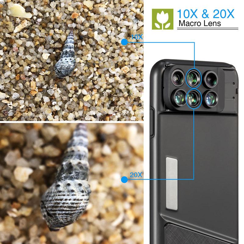 Ốp Điện Thoại Hỗ Trợ Nhiều Lens Chụp Ảnh MOMAX Dành Cho iPhone X - Đen