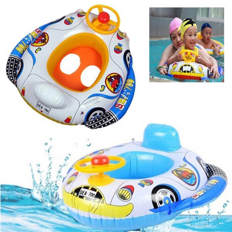Phao bơi trẻ em xỏ chân ô tô CHỐNG LẬT cho bé từ 0-5 tuổi, thiết kế độc đáo, màu sắc ngộ nghĩnh - POKI