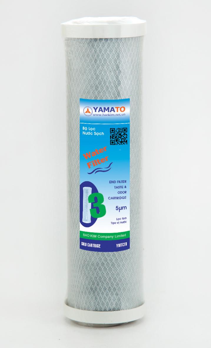 Bộ lọc nước thô đầu nguồn 2 cấp lọc 10inch Yamato YMTH10-2T