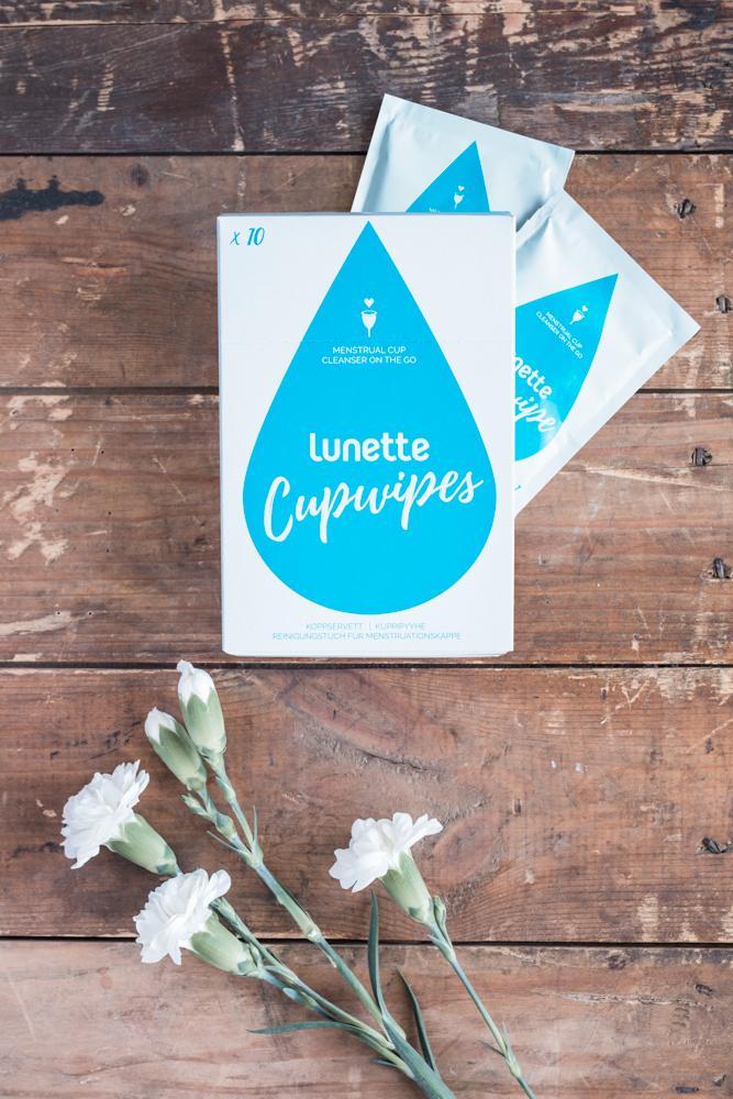 Giấy lau khử trùng cốc nguyệt san chuyên dụng Lunette Cup Wipes
