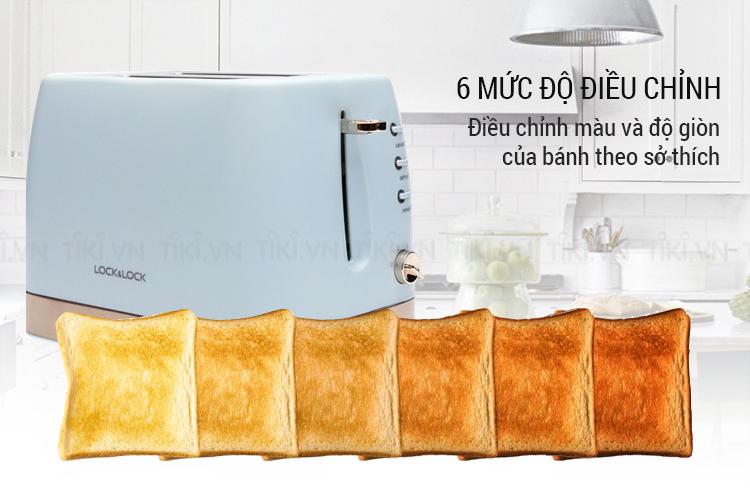 Máy Nướng Bánh Mì Lock& Lock EJB221BLU (700W)