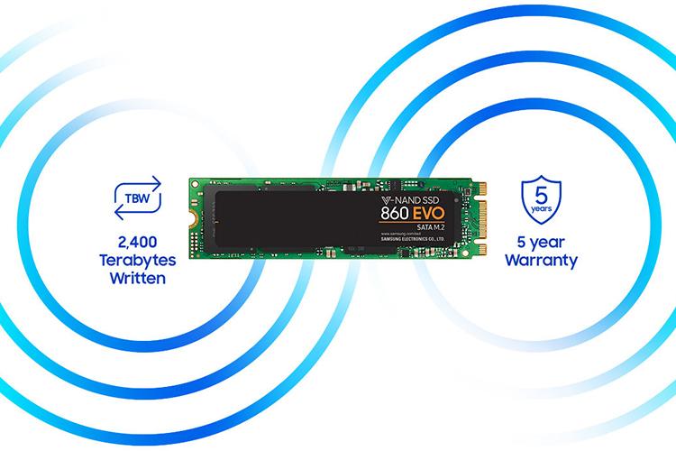 Ổ Cứng SSD Samsung 860EVO 500GB NVMe M.2 2280 - Hàng Chính Hãng