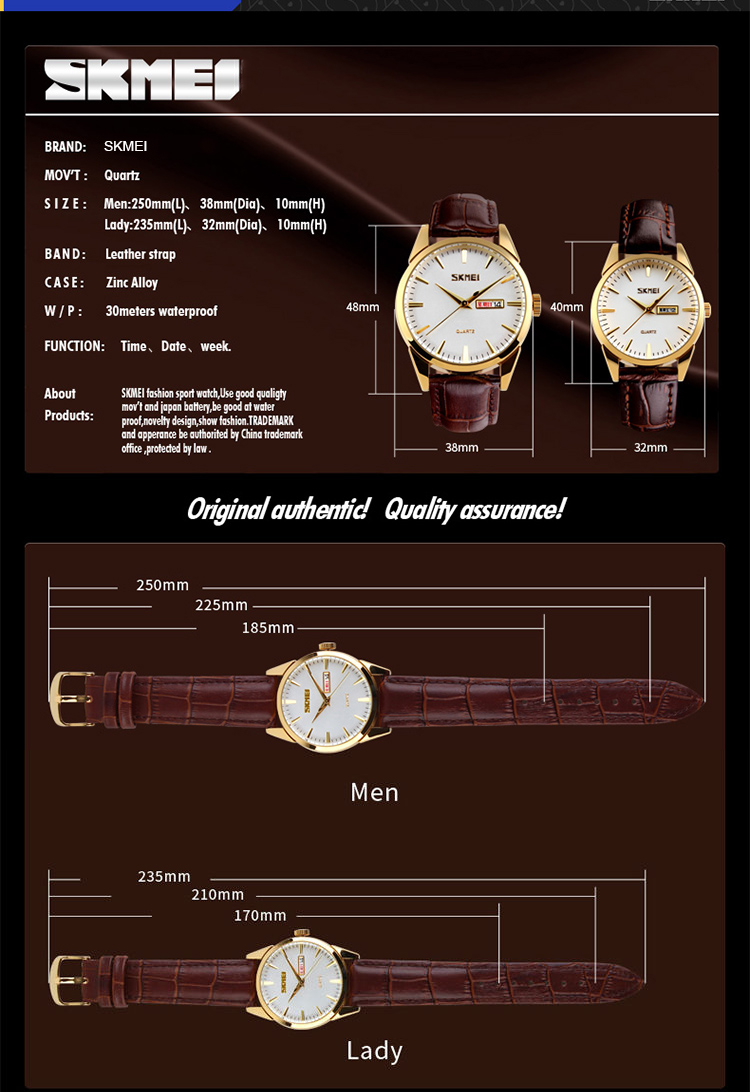 Đồng hồ Nam dây da 9073 - DHA058