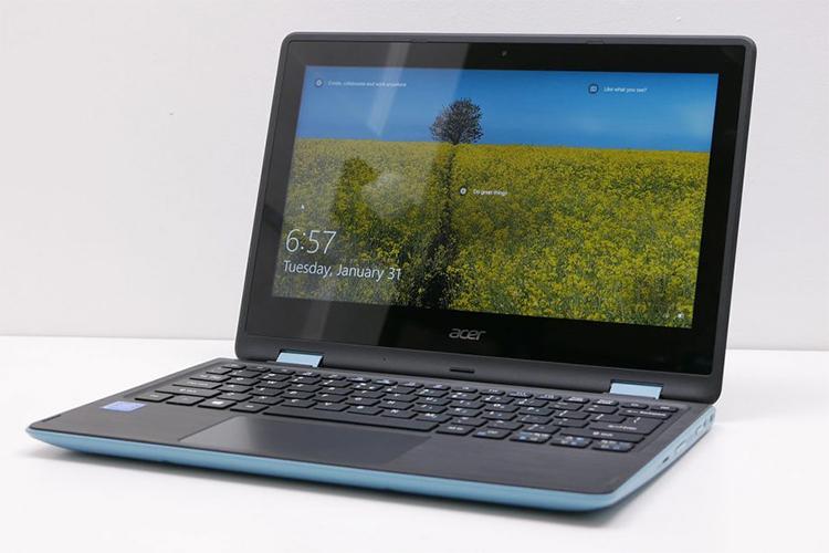 Laptop Acer Aspire SP111-31-C64T NX.GL2SV.001 Celeron N3350/Win 10 (11.6 inch) - Turquoise Blue - Hàng Chính Hãng