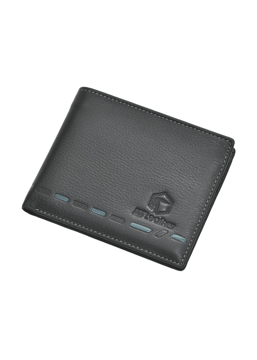 Ví da bò nam cao cấp AT Leather 061 (11.5 x 10.5 cm) - Nâu