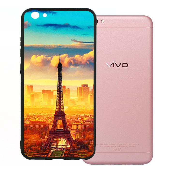 Ốp lưng viền TPU cao cấp cho Vivo V5 - Paris 01