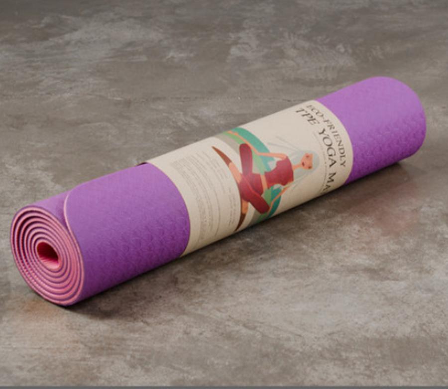 Thảm Tập Yoga Eco Friendly TPE - Tím Hồng