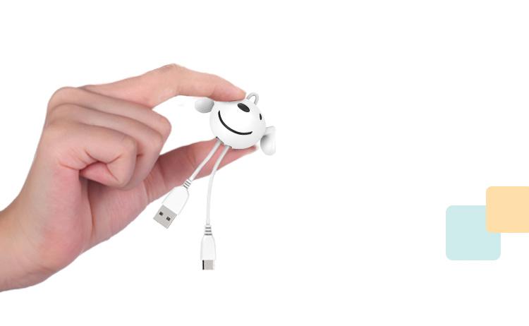 Cáp Sạc Android Type-C Hình Con Chó Dostyle Jiaodong Custom JOY&DOGA Số Lượng Có Hạn Dùng Cho Huawei/Millet/Hammer/A plus/Samsung Và Một Số Mẫu Giao Diện Type-C Khác- CHILL