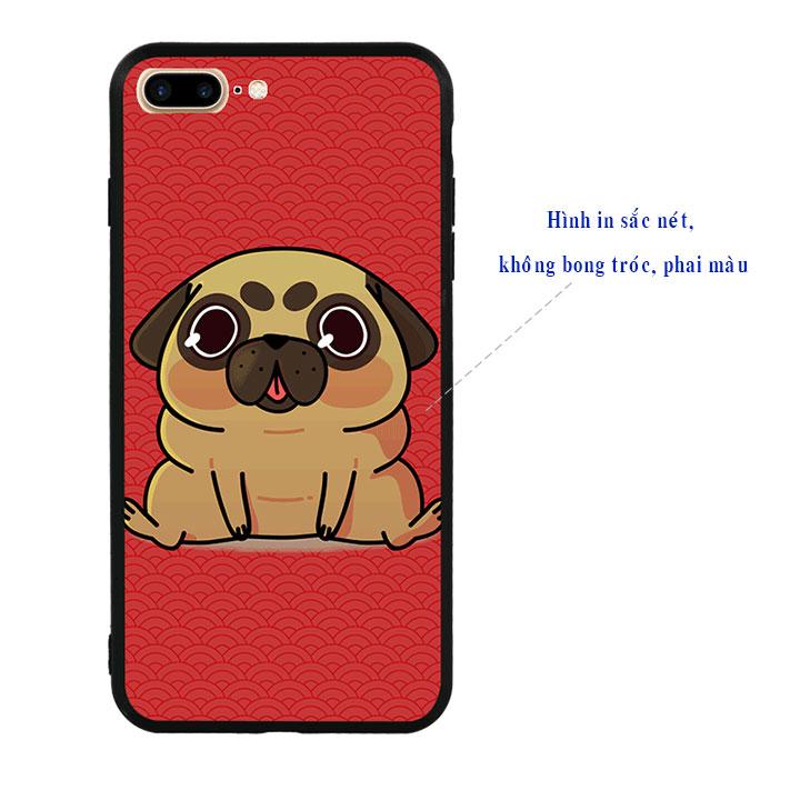 Ốp lưng viền TPU cao cấp cho Iphone 7 Plus - Cute Dog 02