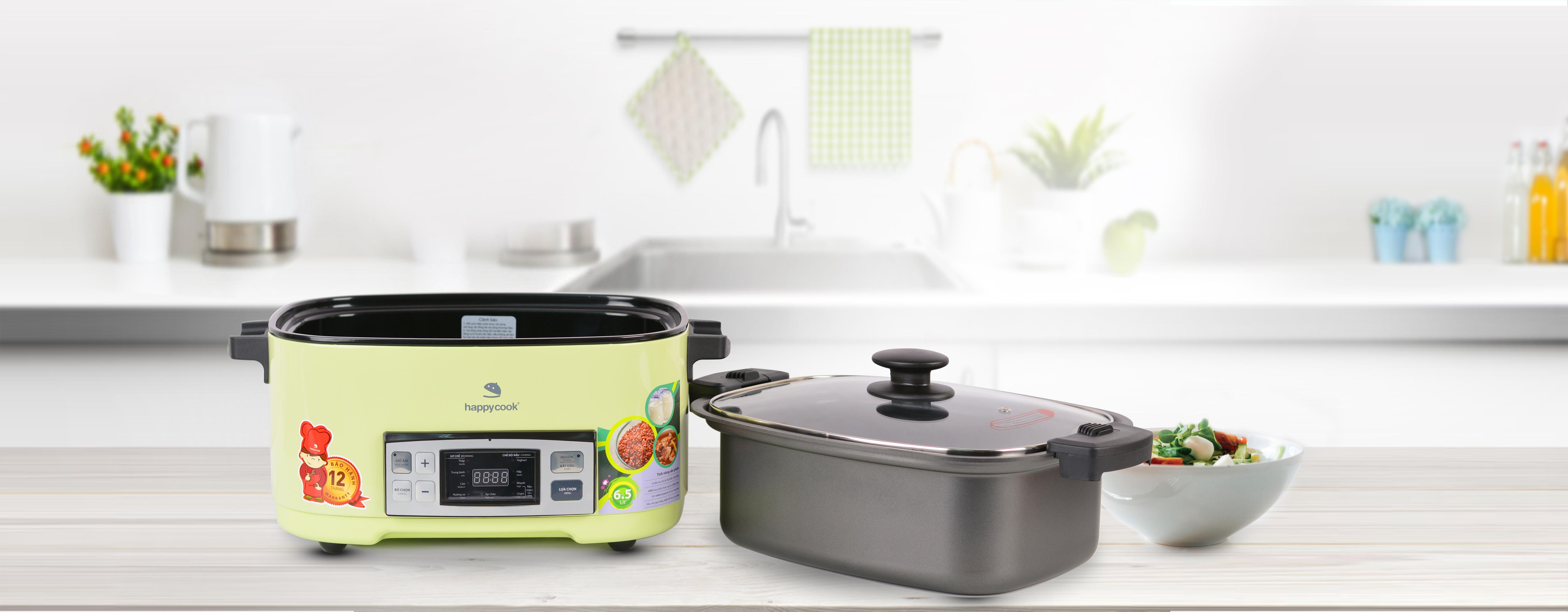 Nồi Điện Tử Đa Năng Happy Cook HCD-650D (6.5L)