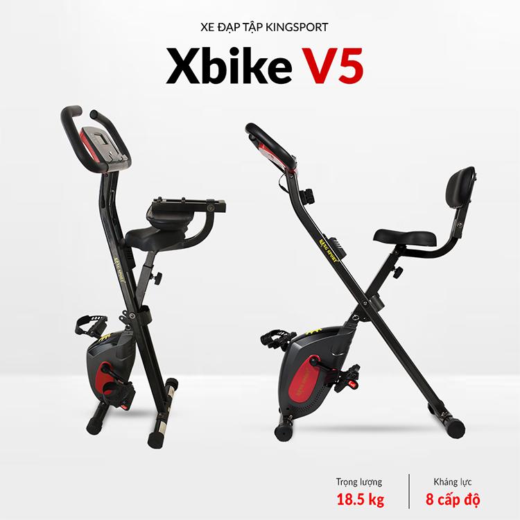 Xe Đạp Tập Kingsport X-Bike V5 (Đen)
