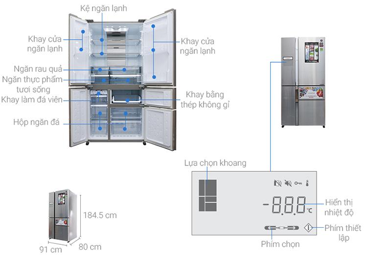 Tủ Lạnh Inverter Sharp SJ-F5X76VM-SL (665L) - Bạc