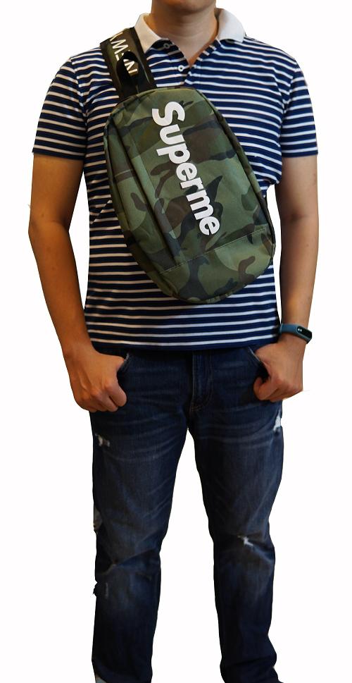 Túi đeo chéo Superme (Xanh lính - Rằn ri)