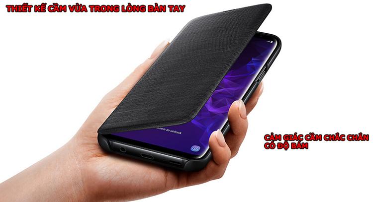 Bao Da Samsung LED View Galaxy S9 Plus  - Hàng Chính Hãng