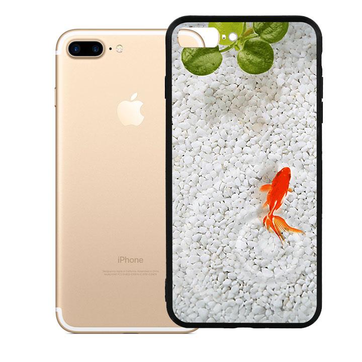 Ốp lưng viền TPU cao cấp cho Iphone 7 Plus - Cá Koi 01