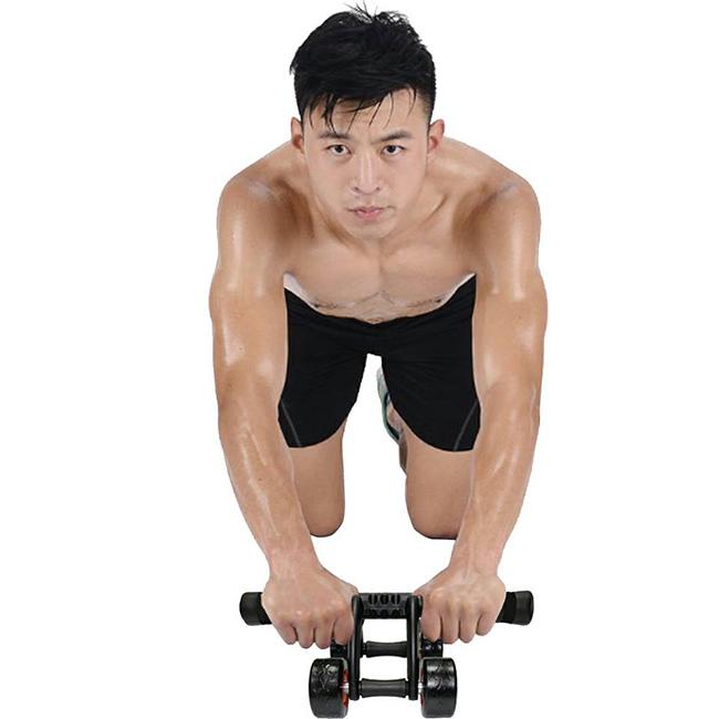 Combo con lăn tập cơ bụng 4 bánh + Kìm bóp tay điều chỉnh lực