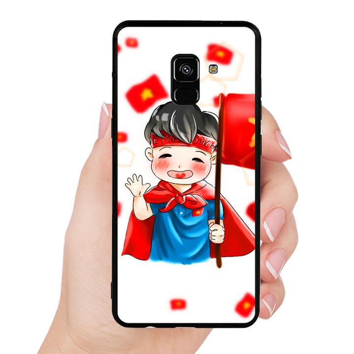 Ốp Lưng Viền TPU Cao Cấp Cho Samsung Galaxy A8 Plus - U23 Mẫu 6
