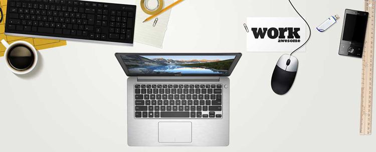 Laptop Dell Inspiron 5370 N5370A Core i5-8250U/Win10 (13.3 inch) - Silver - Hàng Chính Hãng