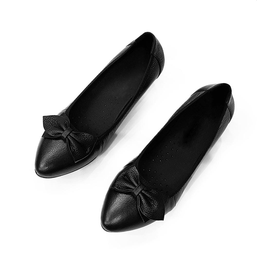 Giày Cao Gót Nữ Đế Vuông Cao 3cm Da Thật Siêu Mềm Evelynv 3P05DTP (Đen) 2