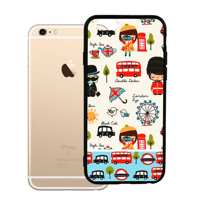 Ốp lưng viền TPU cao cấp cho Iphone 6 Plus - London 02