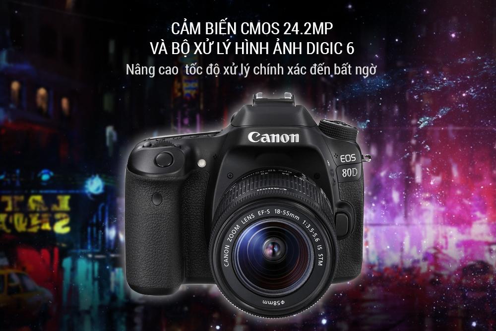 Máy Ảnh Canon 80D + Lens 18-55mm (Lê Bảo Minh)