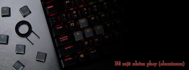Bàn Phím Cơ Gaming Có Dây CORSAIR K70 MK.2 MX Blue RGB CH-9109011-NA - Hàng Chính Hãng