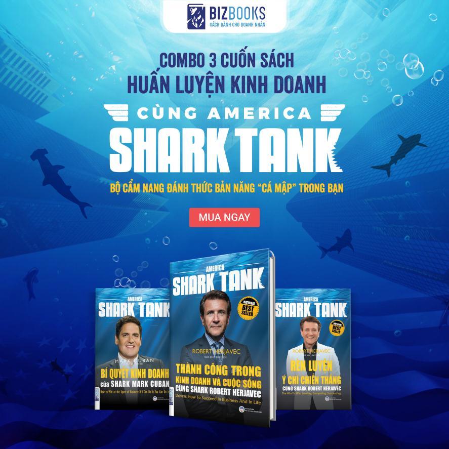 Combo 3 Cuốn Huấn Luyện Kinh Doanh Cùng America Shark Tank