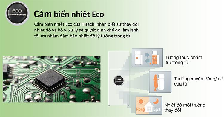 Tủ Lạnh Inverter Hitachi R-FW690PGV7X-GBK (540L)