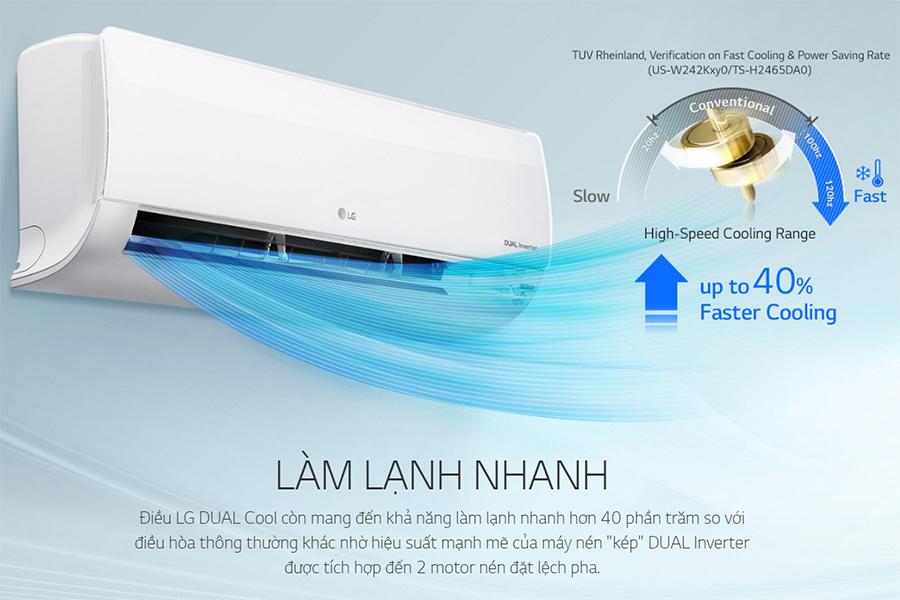 Máy Lạnh Inverter LG V10ENW (1HP)  = 6.890.000 ₫