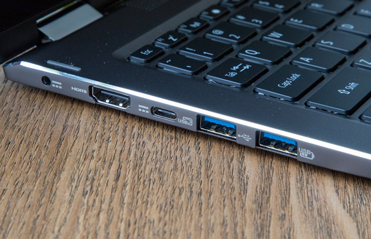 Laptop Acer Spin 5 SP513-52N-556V NX.GR7SV.004 Core i5-8250U/Win10 (13.3 inch) (Grey) - Hàng Chính Hãng