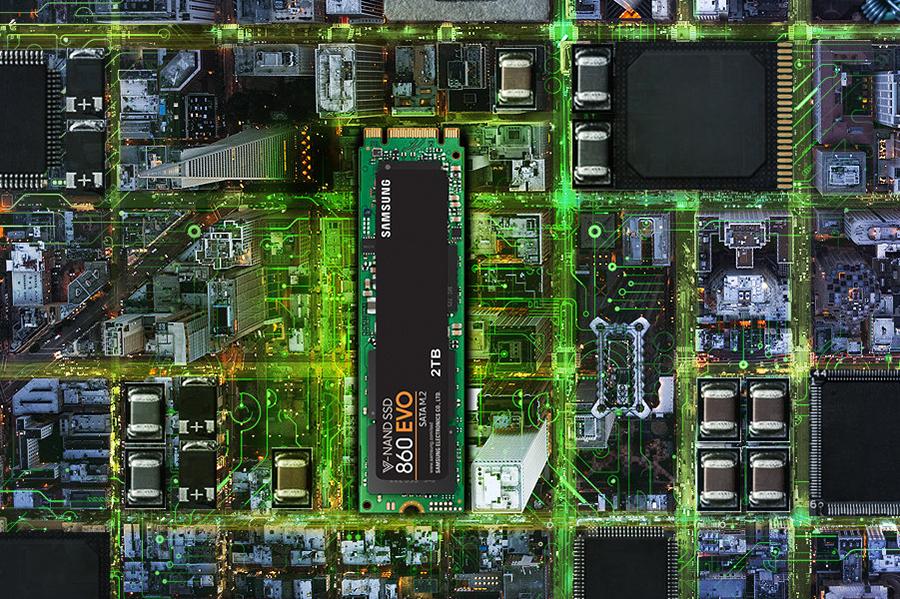 Ổ Cứng SSD Sata III M.2 2280 250GB Samsung 860 Evo MZ-N6E250BW - Hàng Chính Hãng